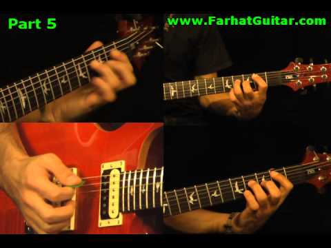 One - Metallica - Guitar Lesson 5/12 www.FarhatGuitar.comwww.FarhatGuitar.com