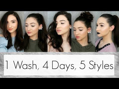 How I Style My 1st, 2nd, 3rd & 4th Day Hair || 5 Cute Hairstyles For Greasy Hair || BeautyChickee