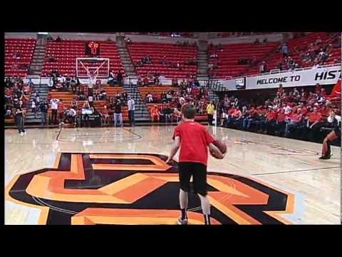 OSU Fan Makes Halfcourt Shot