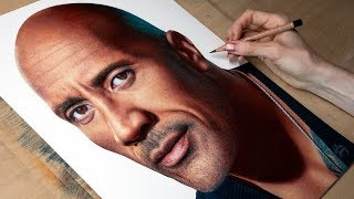 Drawing The Rock (Dwayne Johnson)