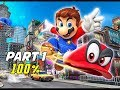 SUPER MARIO ODYSSEY Walkthrough Part 1 - 100% Cascade & Sand Kingdom (Let's Play Commentary)