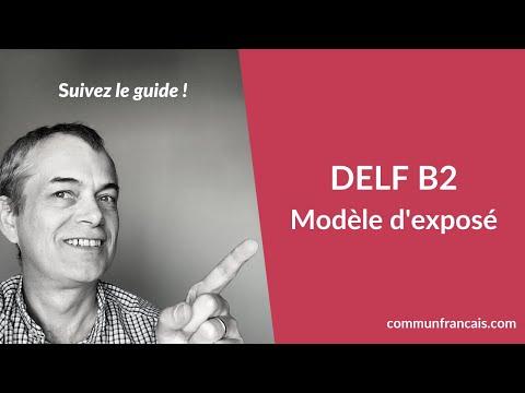 Modele De Production Orale Delf B2 Comment Reussir