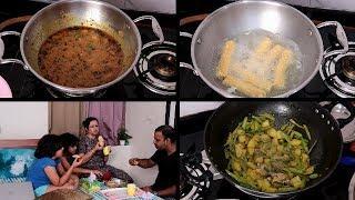 Shayad sabhi mummy ko ye pareshaani hoti hai | टेस्टी और आसान गट्टे की सब्ज़ी | Indian Dinner Routine