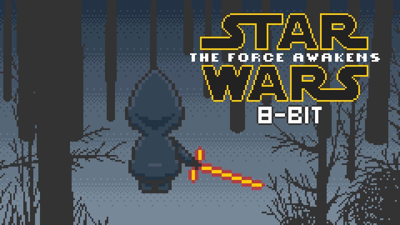 star wars the force awakens 8 bit teaser youtube. Black Bedroom Furniture Sets. Home Design Ideas