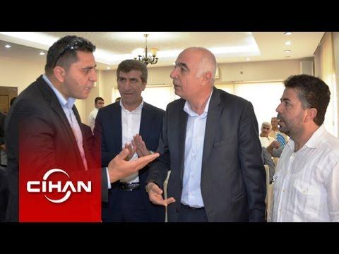 Bülent Arınç'ın koruması ile gazeteci arasında yer tartışması