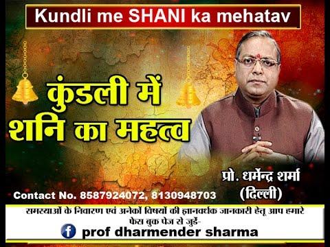 Kundli me SHANI ka mehatav(कुंडली में शनि का महत्व)