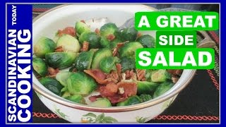 How To Make Brussels Sprouts Salad With Bacon - Rosenkål Bacon Salat Opskrift