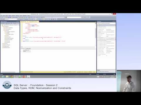 SQL Server Tutorial - Part 2 - Data Types, RDM, Normalization, Primary and foreign keys