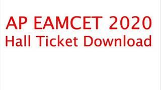 AP EAMCET 2020 Admit Card, AP EAMCET Hall Ticket 2020, AP EAMCET 2020 Hall Ticket