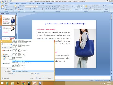 How to Convert Power Point Slide into JPG/Image File (No Software)