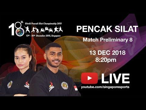 Pencak Silat Match Prelim 8 Match 20 (Day 1 Arena 2)   18th World Pencak Silat Championship 2018