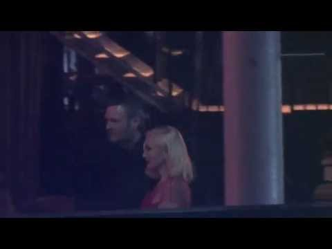 Blake Shelton and Gwen Stefani seen leaving event in Beverly Hills, CA