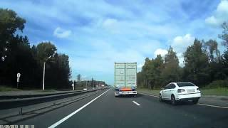 SCARY Citroen C5 accident on highway RUSSIA!Citroen C5 аварии шоссе