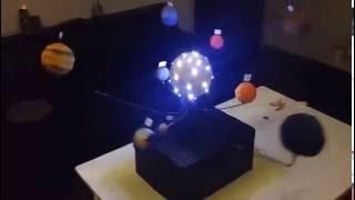 Solar System model Homemade Moving