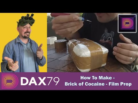 How to make a Brick of Cocaine - Film Prop