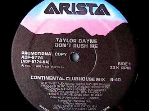 TAYLOR DAYNE - Don't Rush Me (Continental Clubhouse Mix 1988).mov
