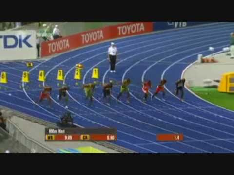 """""""Usain Bolt"""" **World Record** 9.58s 100m  Slow Motion Replay"""