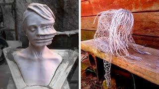 Как бы выглядел последний день Помпеи в наши дни. 60 необычных скульптур