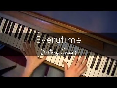 Everytime (Britney Spears) Piano Cover (Overhead View)