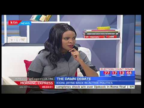 The Dawn Debate: Jayne Kihara And Jeremiah Kioni Back In Active Politics