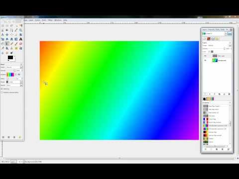 Gimp hintergrund mit farbverlauf