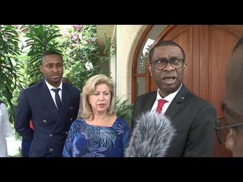 Youssou N'Dour a été reçu en audience par Madame Dominique Ouattara