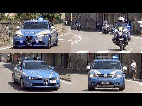 "Mezzi Polizia al Giro d'Italia 2017 - Italian Police vehicles escorting ""Giro d'Italia"""