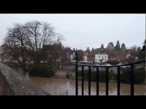 River Thames Flooding at Abingdon Bridge