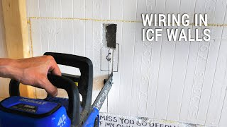 ICF Mountain Homestead: Cutting Foam and Pulling Wire