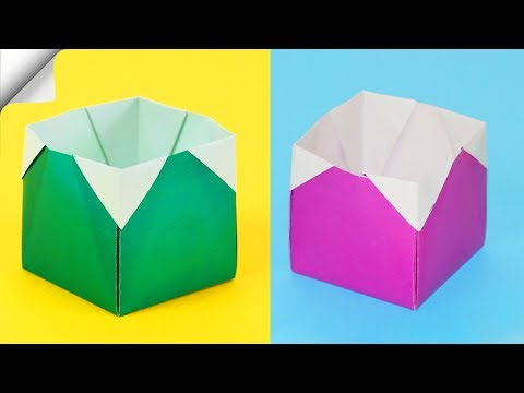 How To Make A Paper Box | DIY paper box | Easy paper crafts
