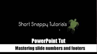 PowerPoint Tips + Tricks: Slide numbering, footers and slide masters. Master your footers.