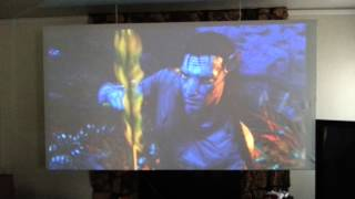 Homemade 100 inch projection screen