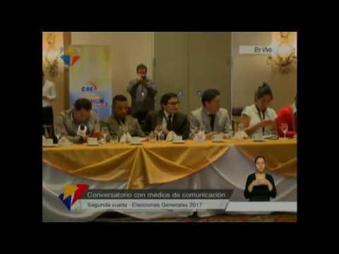 Conversatorio de Juan Pablo Pozo, Presidente del Consejo Nacional Electoral