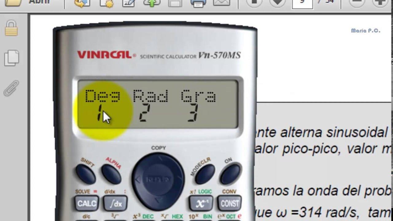 Calculadora en grados y radianes youtube - Como instalar una bisagra de 180 grados ...
