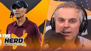 Herm Edwards talks coaching Arizona State, NFL Draft, Justin Herbert, Tua, Joe Burrow | THE HERD