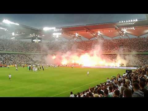 Legia Warszawa Mistrzem Polski 2017. Żyleta eksplozja radości 04.06.2017