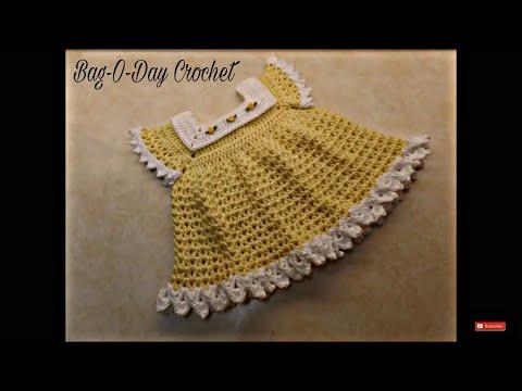 CROCHET How To #Crochet Sunshine & Roses Baby Dress 0-6 Months #TUTORIAL #352 LEARN CROCHET