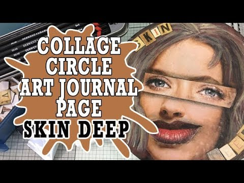 Circle Art Journal Page - Skin Deep