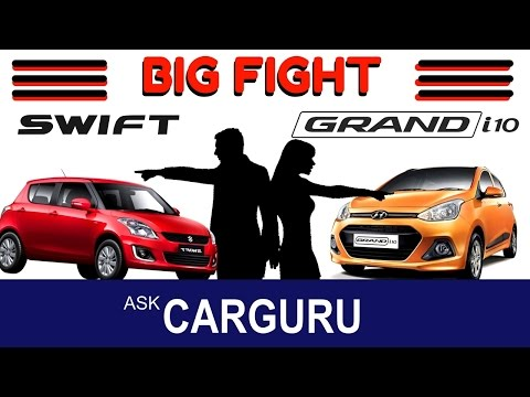SWIFT vs GRAND i10 Petrol, CARGURU, The Big Fight, Maruti Suzuki vs Hyundai, all details in Hindi