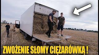 Zwożenie Słomy Ciężarówką i Busem! ☆Pomagamy z Bratem ☆Widzowie Na Podwórku