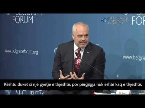 Edi Rama vs.Aleksandar Vučić- Albanian translation