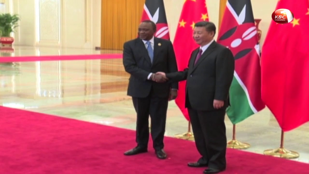 President Kenyatta arrives in Shanghai for the China import expo