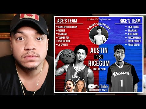 ACE FAMILY BASKETBALL GAME!! (RICEGUM, AUSTIN MCBROOM & NBA PLAYERS) The Truth On Why Im Not Playing