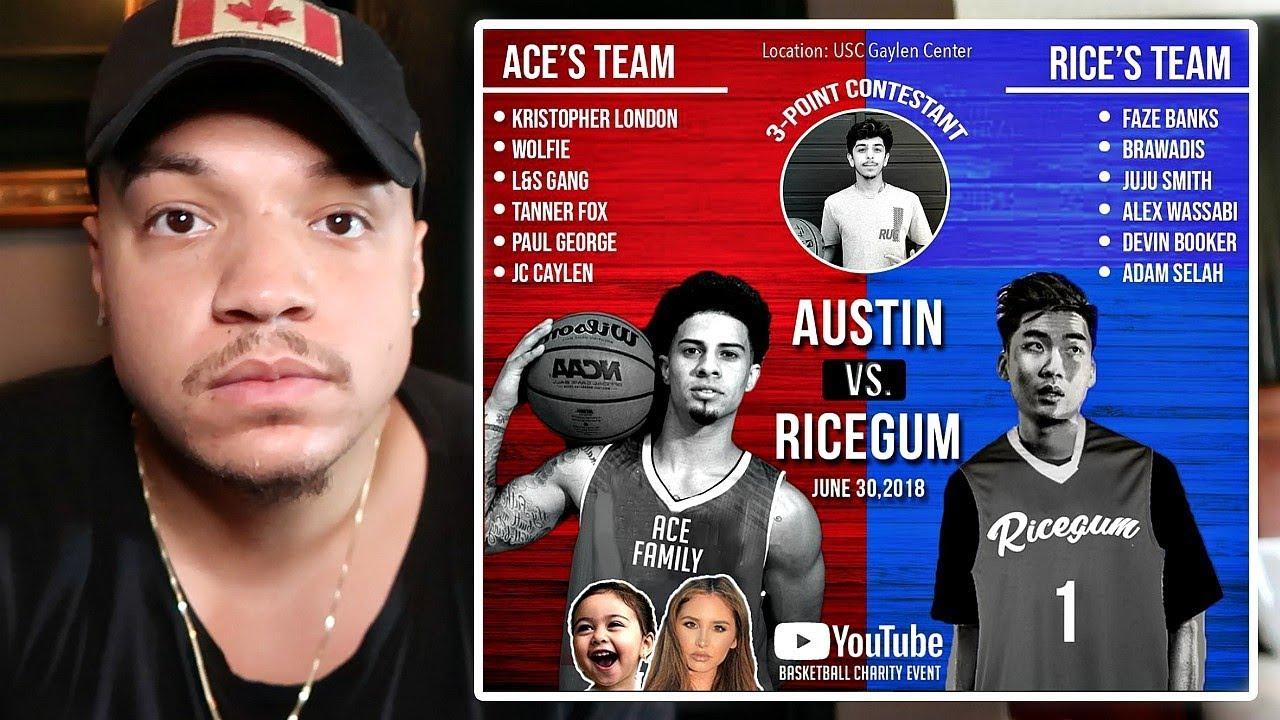 Ace Family Basketball Game Ricegum Austin Mcbroom