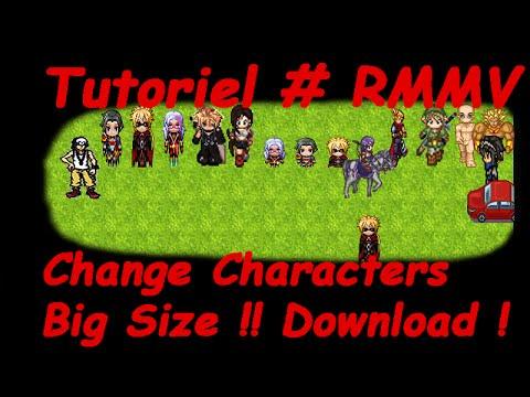 Tutoriel # RMMV Change Characters Big Size