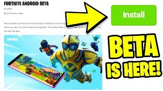 How To DOWNLOAD Fortnite MOBILE ANDROID Beta RIGHT NOW!