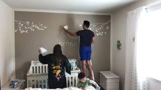 Decoração de parede para quarto de bebê !!