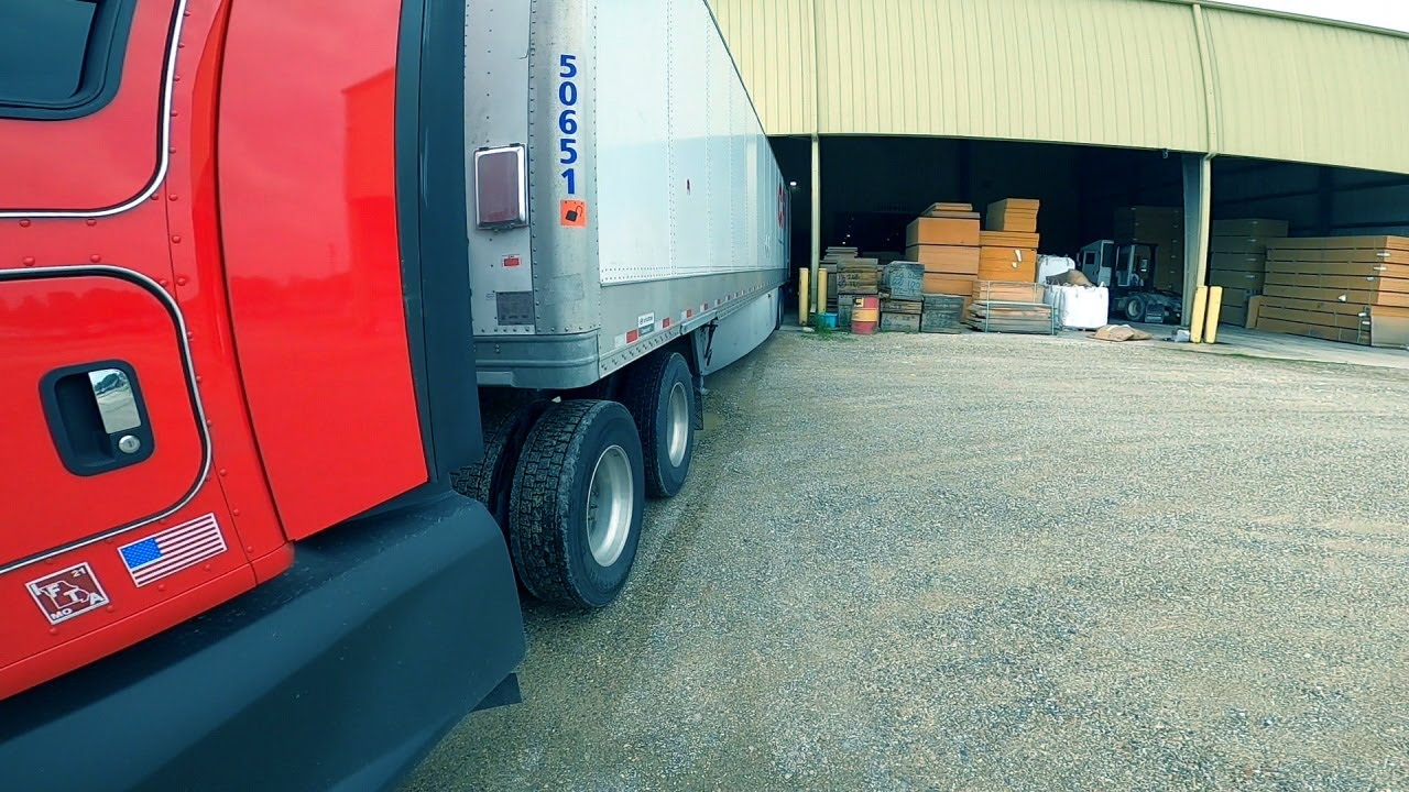 I had to back into a black hole dock AGAIN.  Trucking Life.