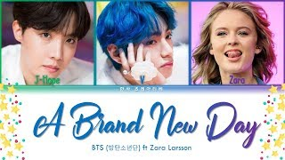 Gambar cover BTS (방탄소년단) & Zara Larsson - A Brand New Day (BTS WORLD OST Part.2) Lyrics Color Coded (Han/Rom/Eng)