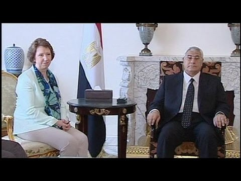 EU's Ashton meets with main players in Egypt